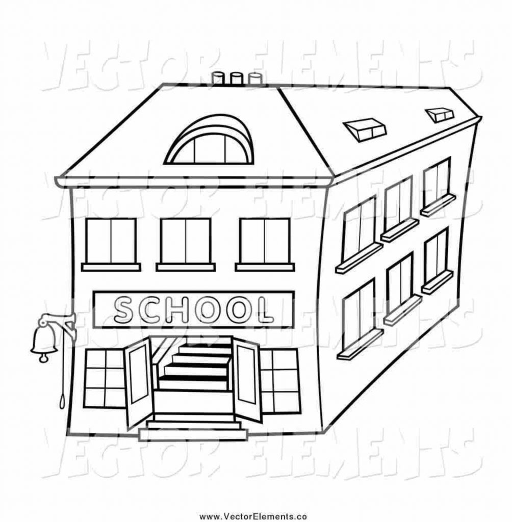 perfect cliparts school building black and white clipart