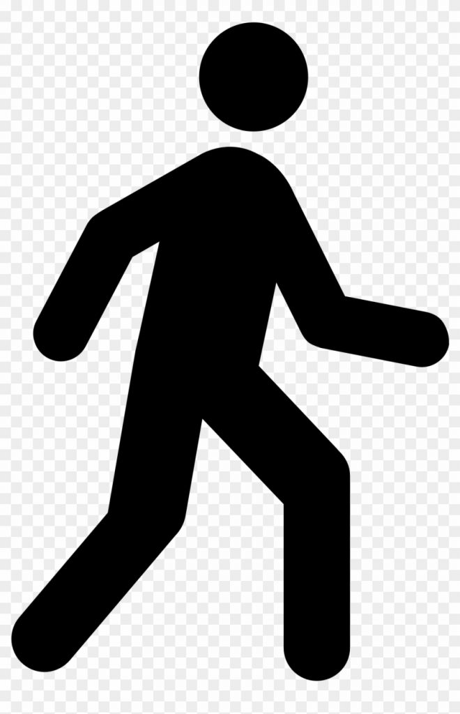 person walking clipart free