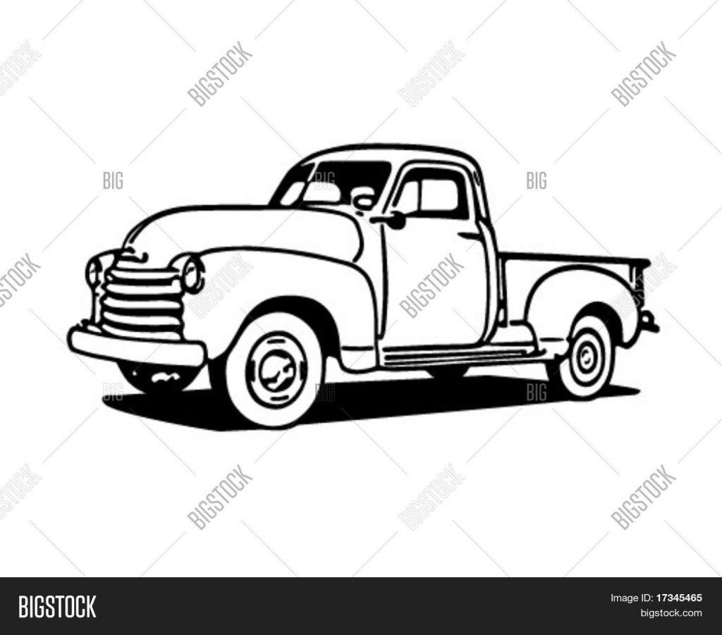 pickup truck retro vector photo free trial bigstock