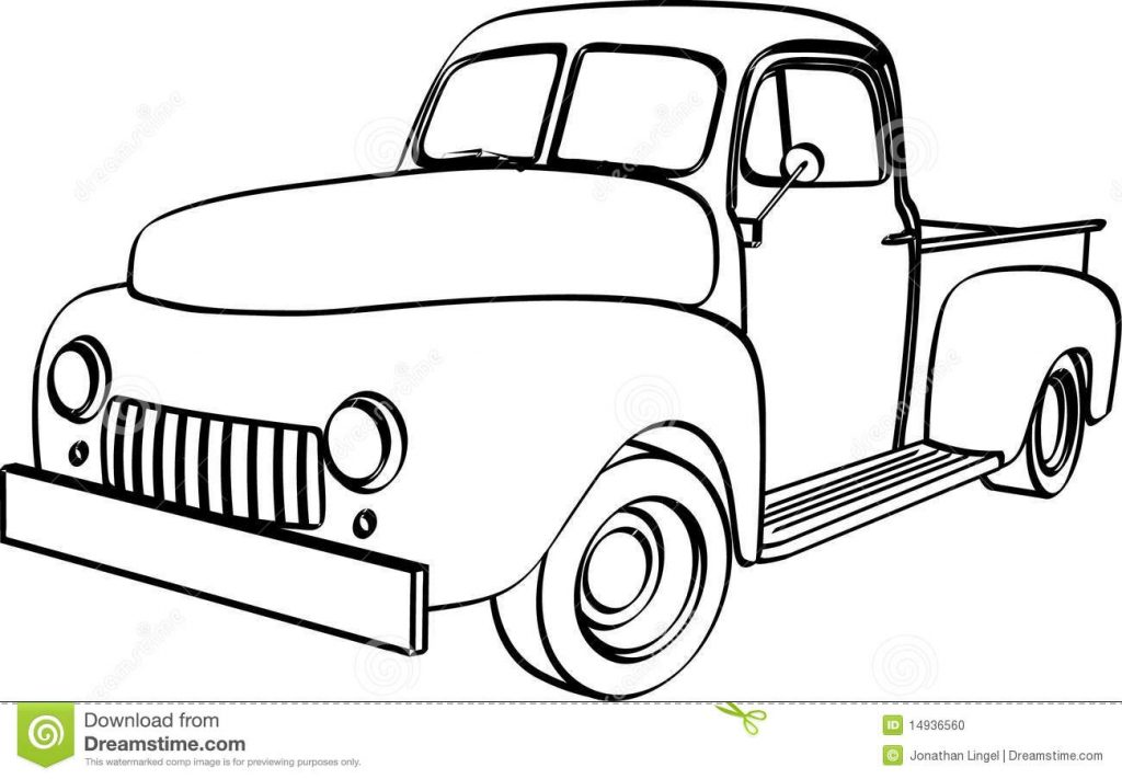 pickup truck stock illustration illustration of vintage