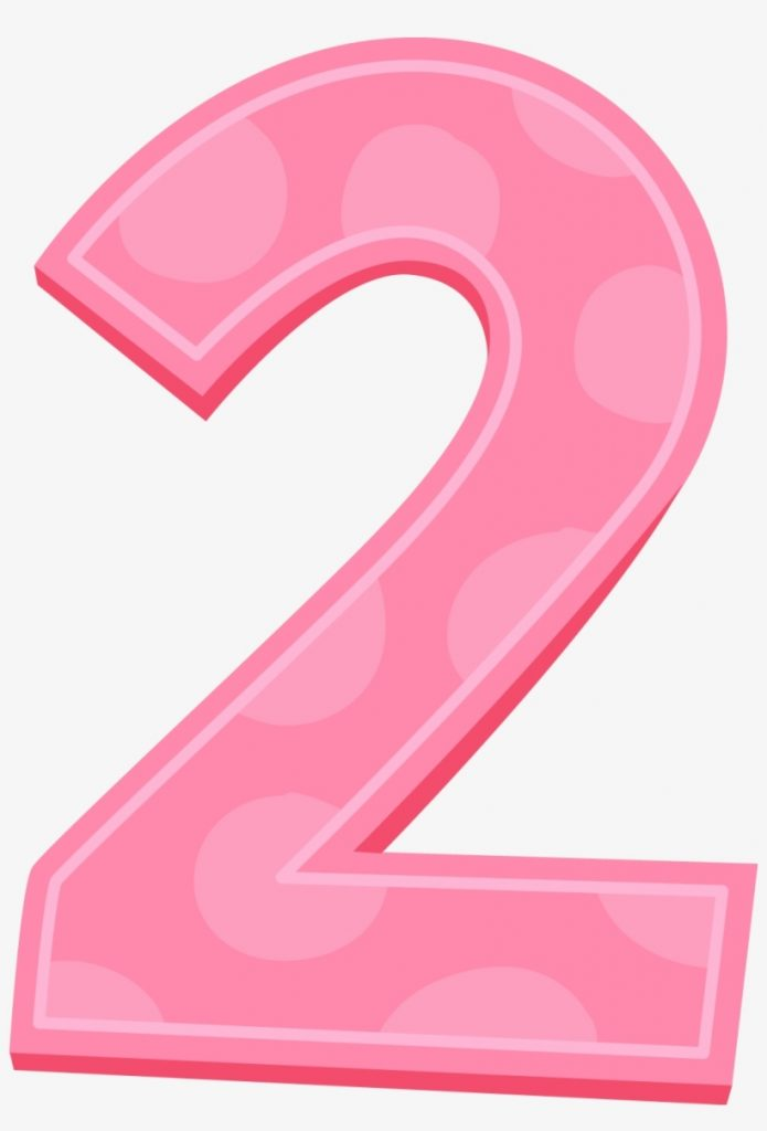 pink number transparent background 2 clipart free