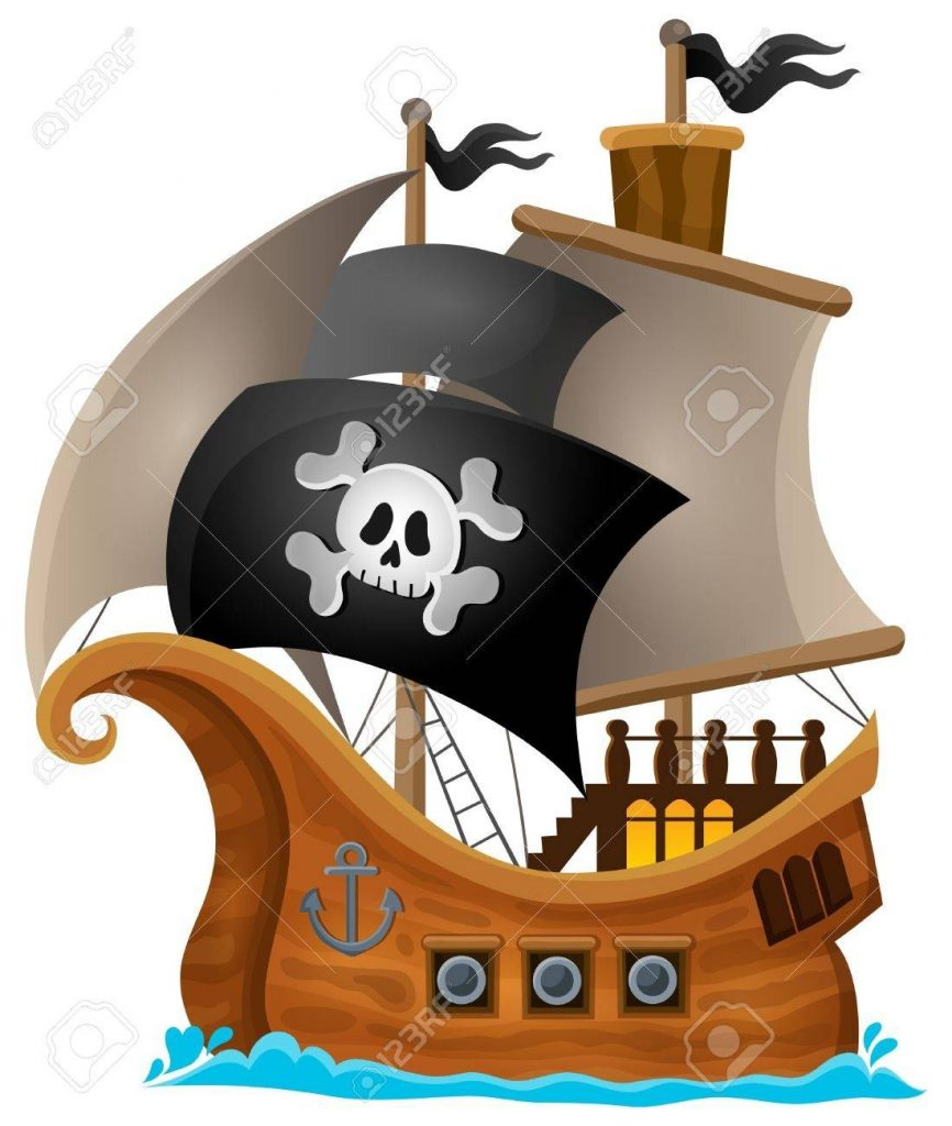 pirate ship topic image 1 eps10 vector illustration