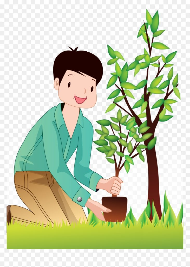 planting trees man tree planting clipart png transparent