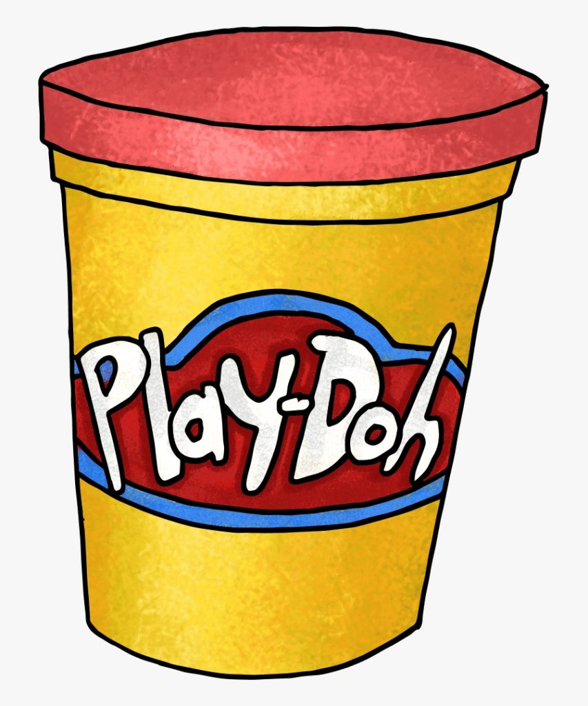 playdough clipart kid sitting table play dough clip art