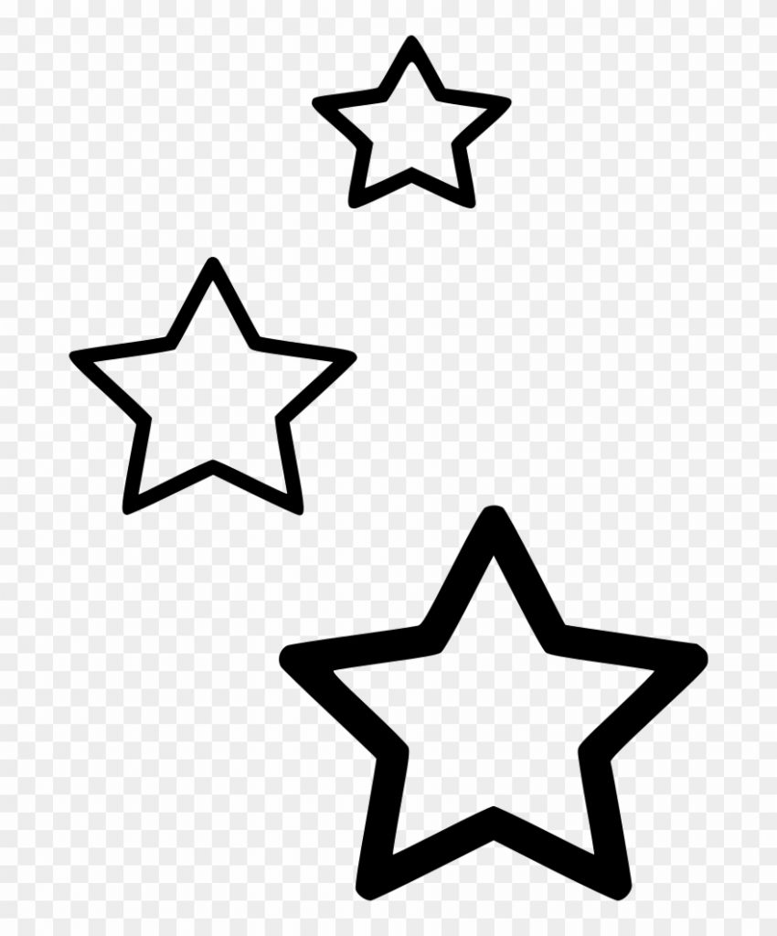 png file hanging stars clipart black and white transparent