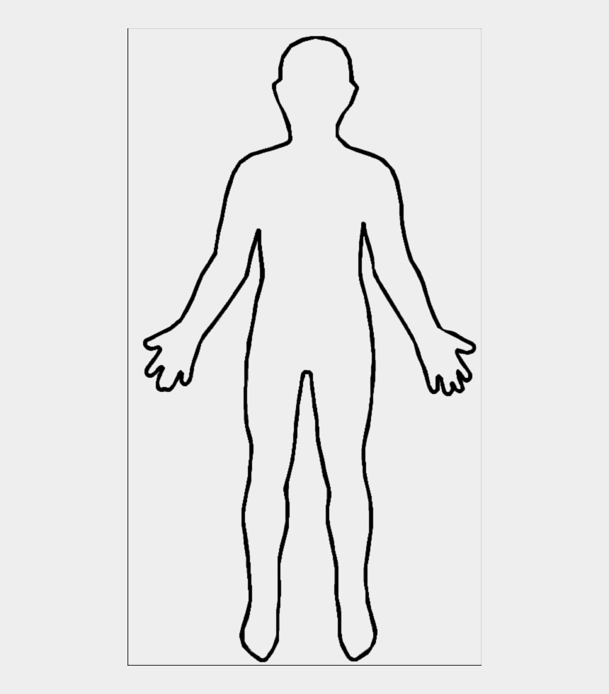 png human body outline shape of human body cliparts