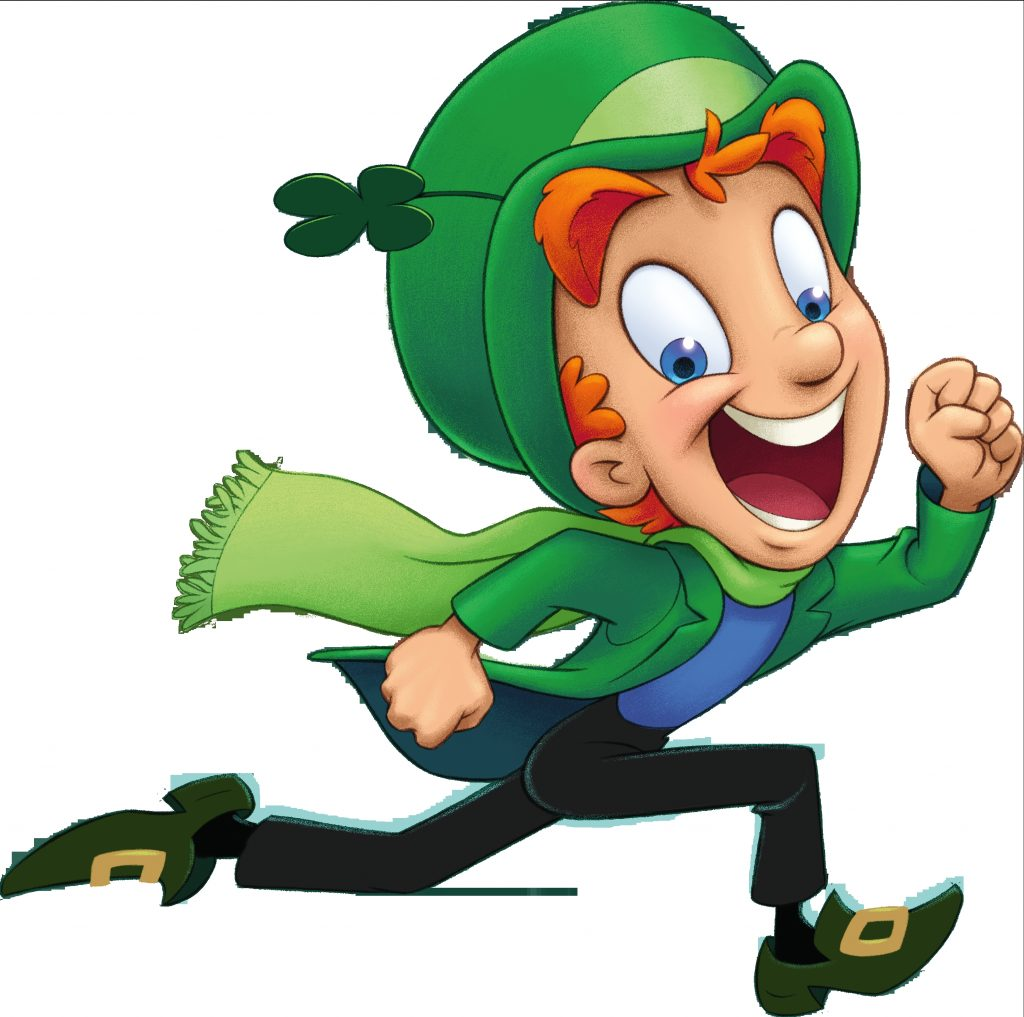 print out lucky the leprechaun to add to your st patricks