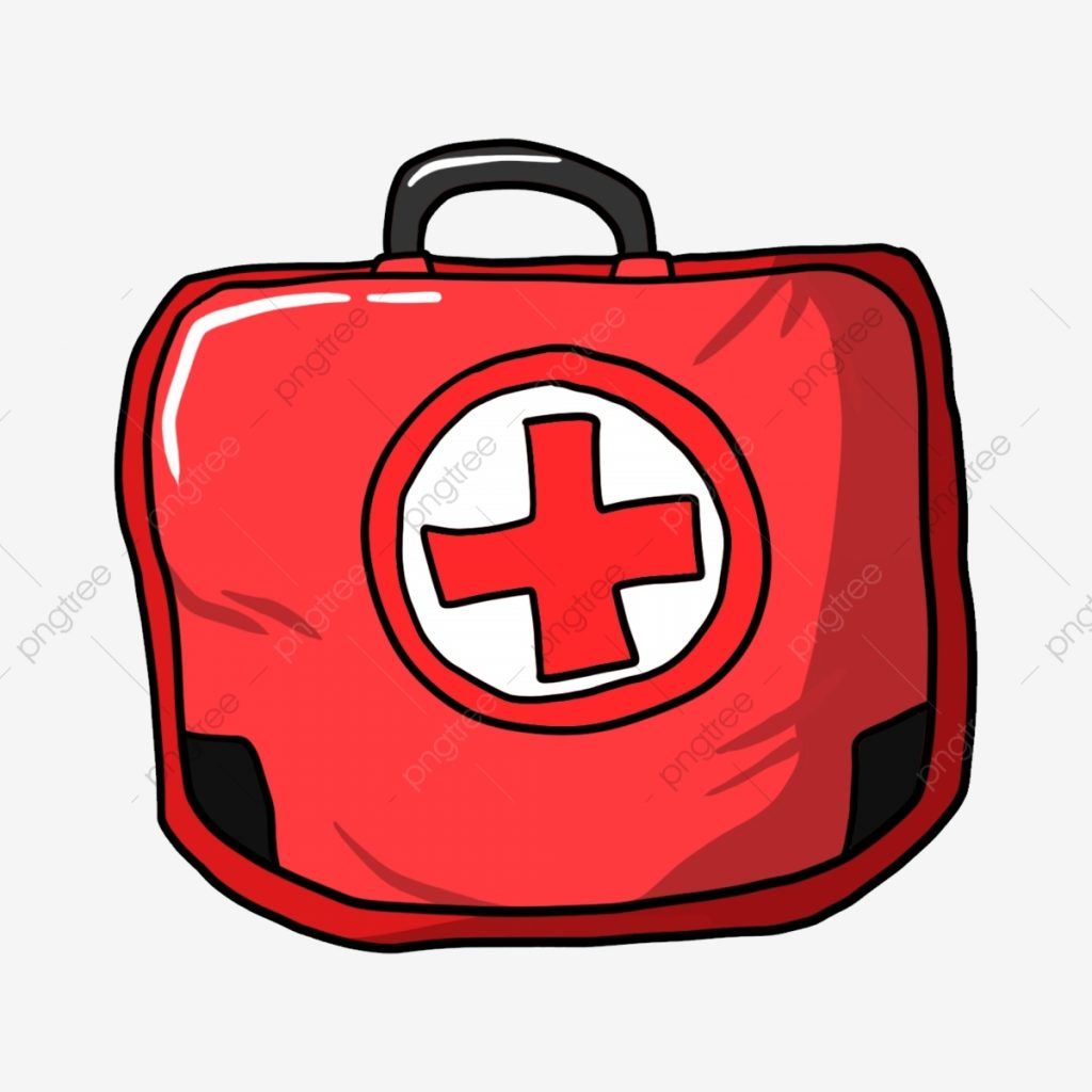 red first aid kit red cross society red bag cartoon