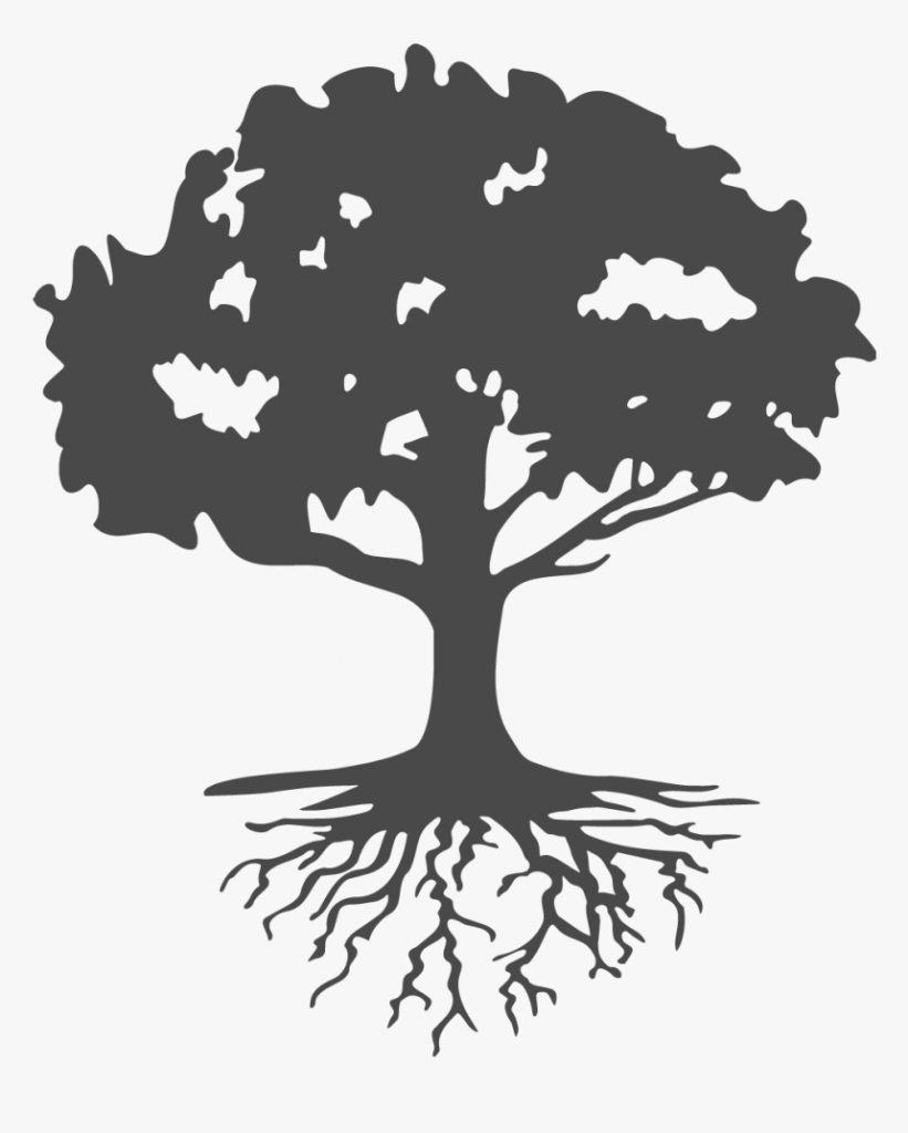 roots clipart landscaping tree with roots silhouette hd