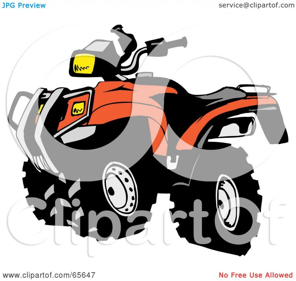 royalty free rf clipart illustration of a black and orange