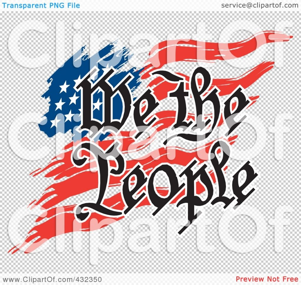royalty free rf clipart illustration of we the people text