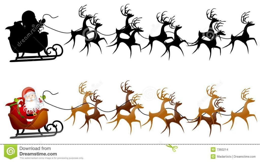 santa sleigh clip art stock illustration illustration of