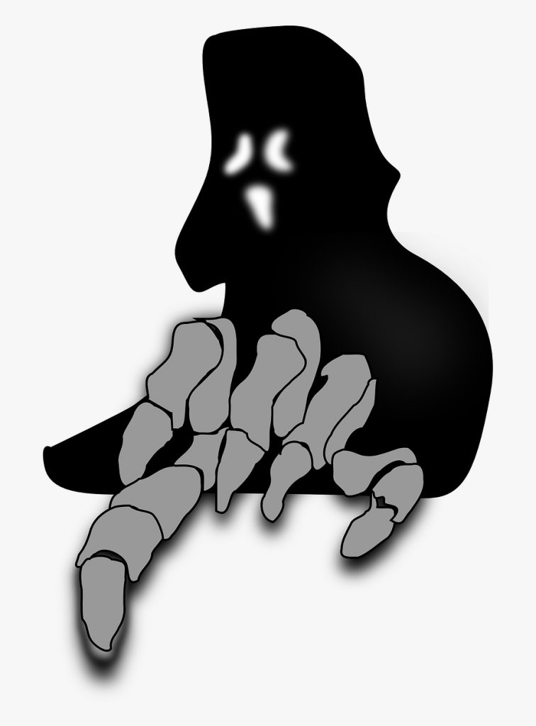 scary clipart ghost outline scary ghost clip art