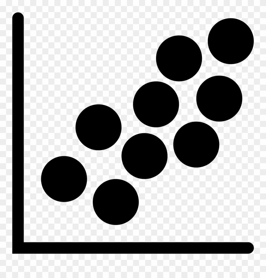 scatter plot filled icon circle clipart 3304775