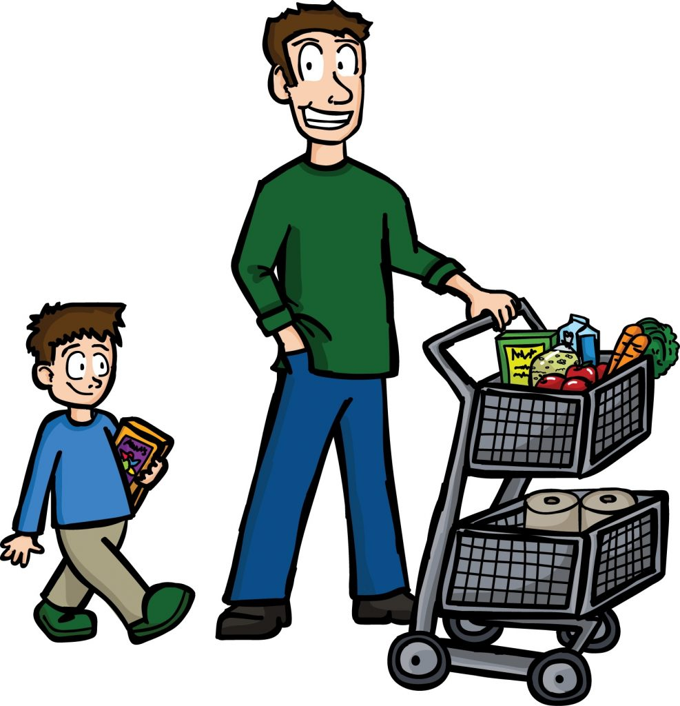 shopping dad clipart buying food image provided epicentro