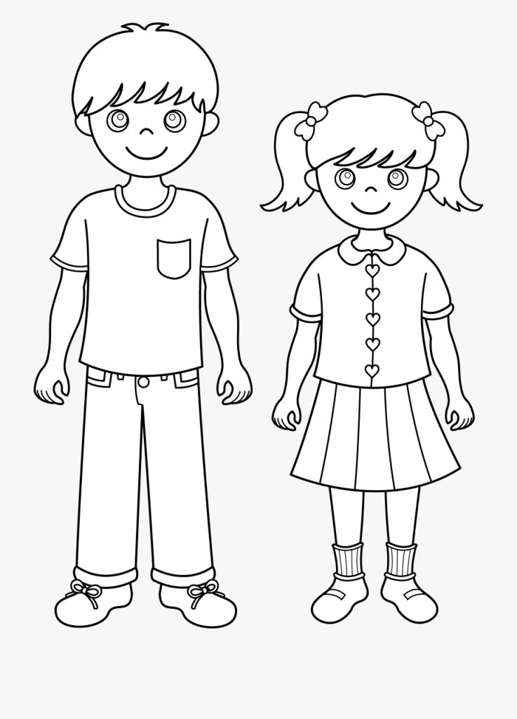 siblings brother black and white transparent cartoon