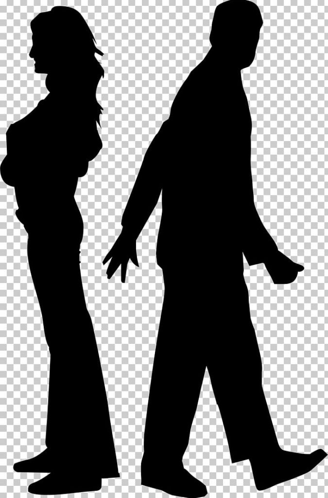 silhouette couple marriage png clipart black and white