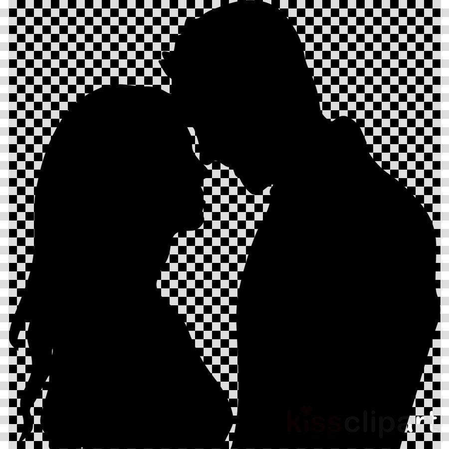 silhouette romance love interaction kiss clipart
