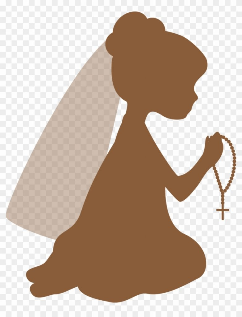 silhouettes first communion clipart first communion girl