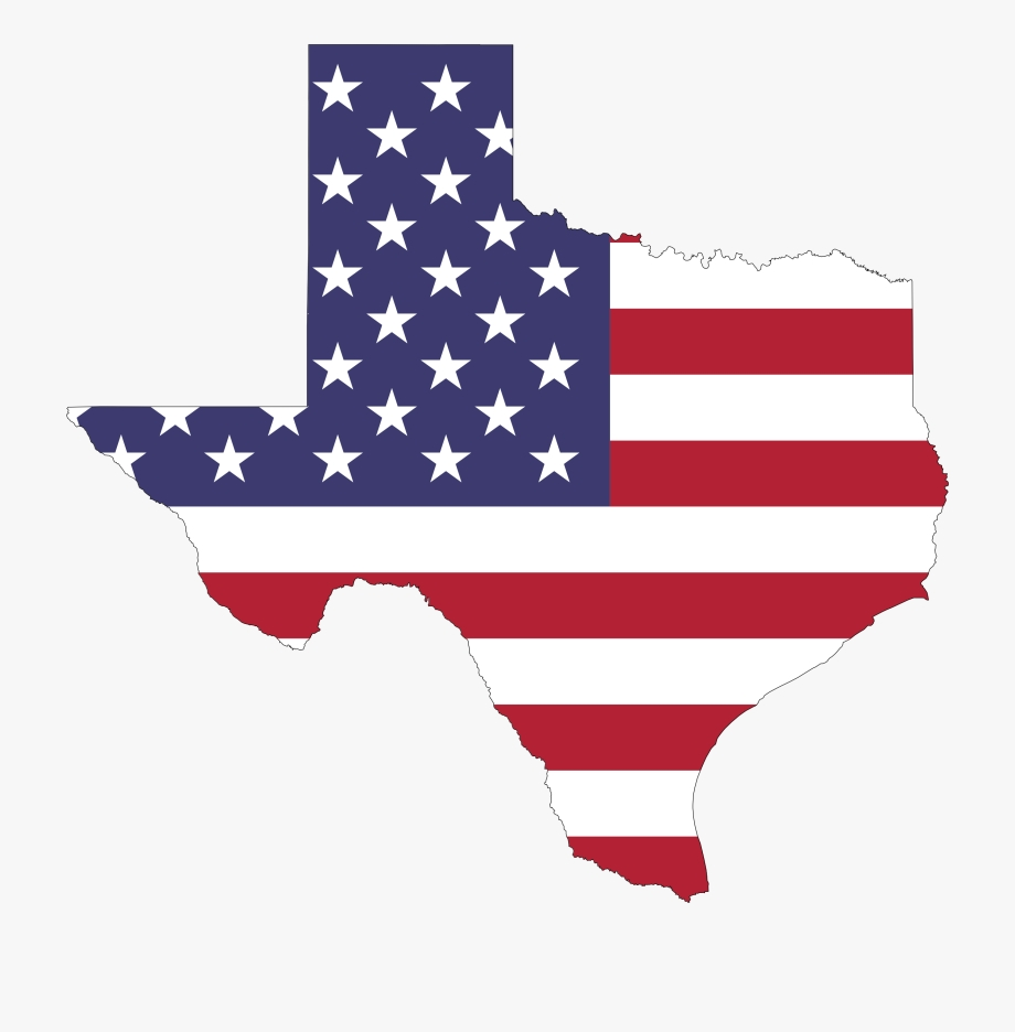texas distressed texas with american flag transparent