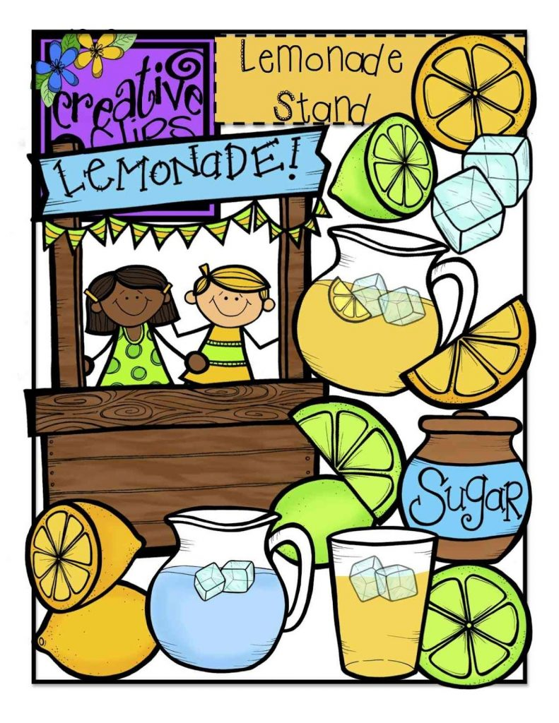 the creative chalkboard free lemonade stand clipart