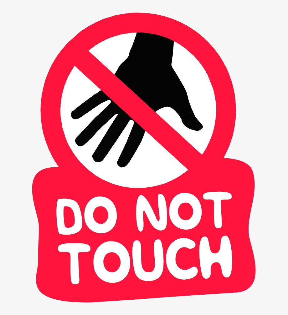 the do not touch caution hot do not touch transparent