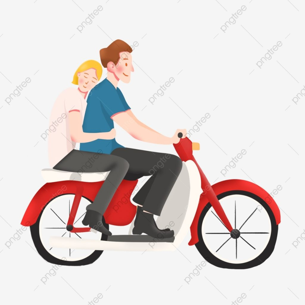 the new couple riding a motorcycle new clipart motorcycle