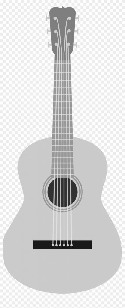 this free icons png design of grayscale acoustic guitar