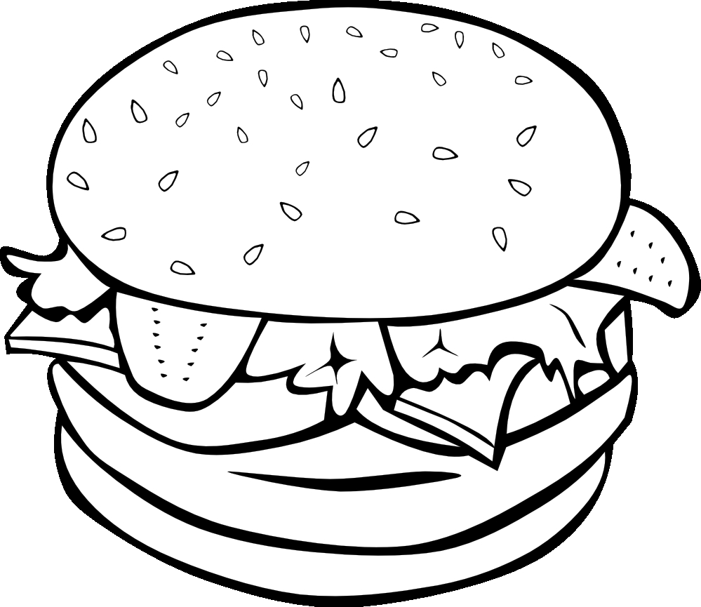 top bun clipart black and white cdr