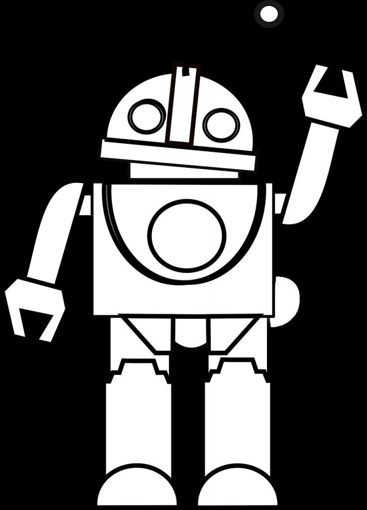 toy clipart black and white robot black and white clipart