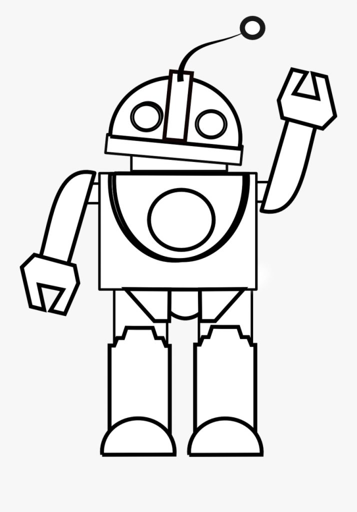 toy clipart black and white robot black and white free