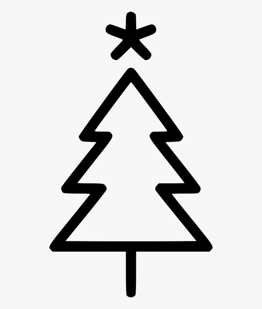 transparent christmas tree star png simple christmas tree