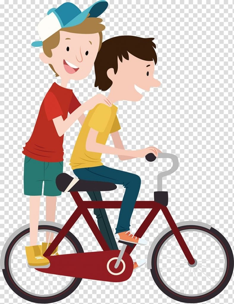 two boys riding bicycle illustration bicycle child cycling