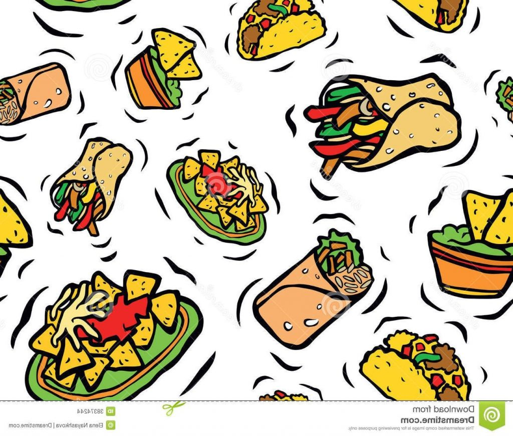unique animated mexican food vector pictures free vector