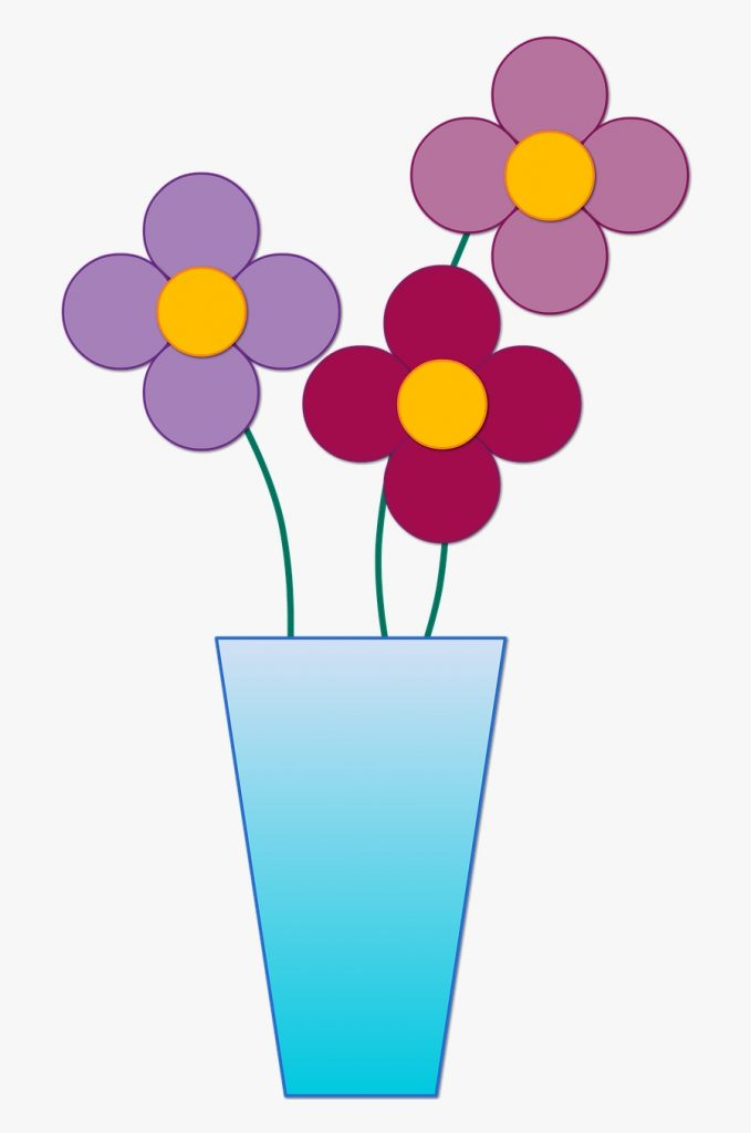 vase with 3 flowers clipart free transparent clipart