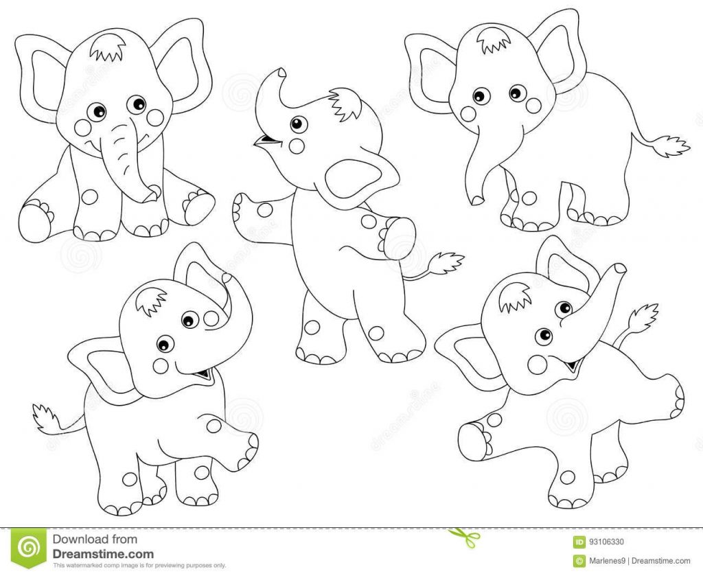 vector elephants set stock vector illustration of play