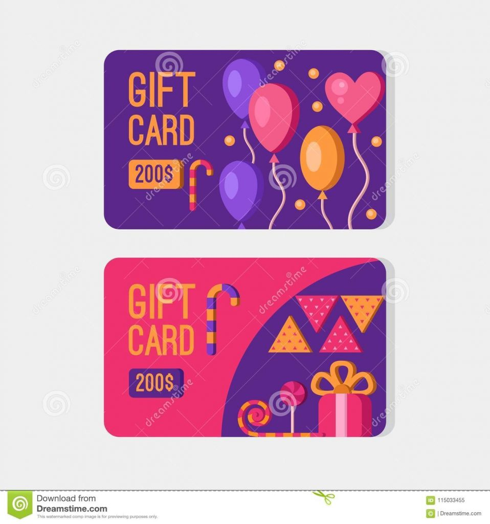 vector gift cards stock illustration illustration of check
