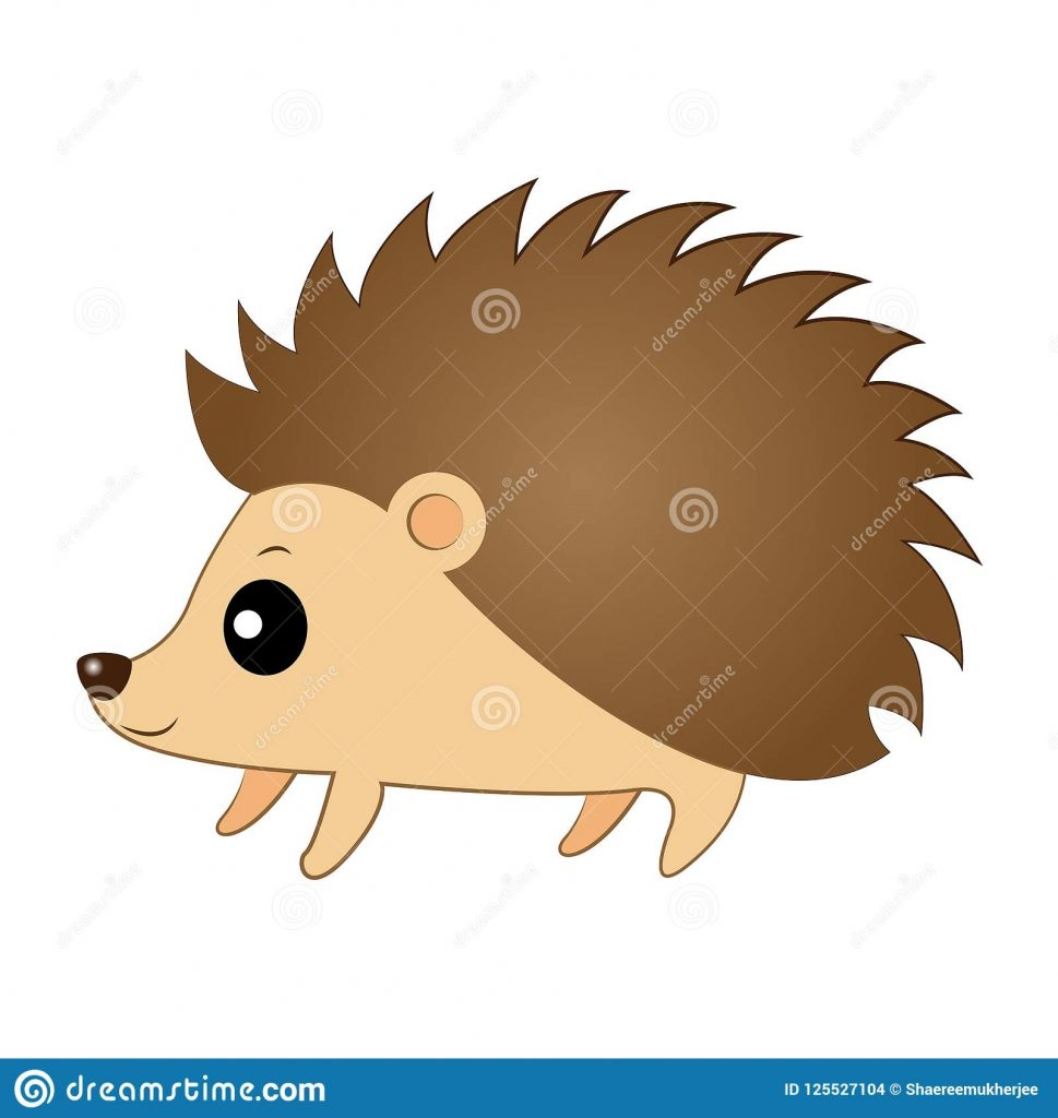 vector illustration cute cartoon hedgehog stock vector