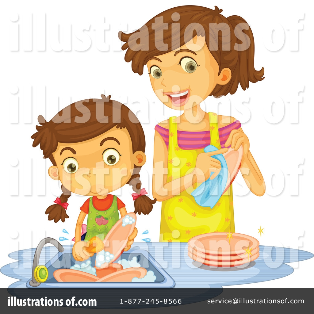 washing dishes clipart 1140307 illustration graphics rf