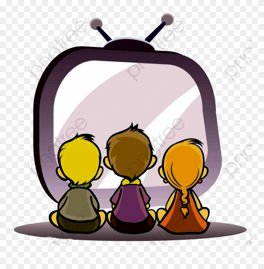 watching tv child kids watching tv clipart png download