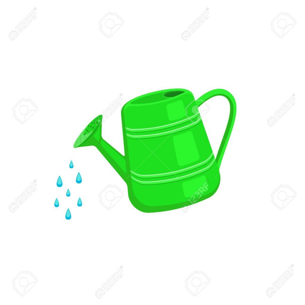watering can icon isolated on white background garden tools