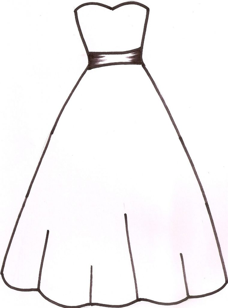 wedding dress template sketches patterns templates