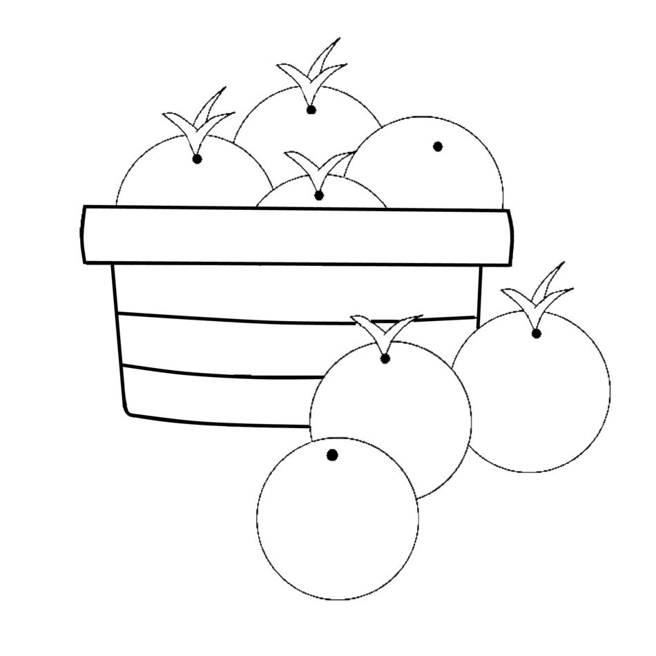 white and black oranges in the basket clipart free image