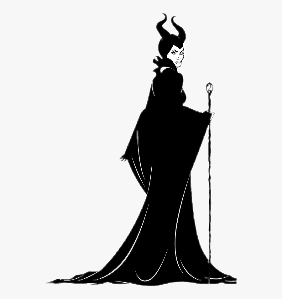 wicked maleficent cartoon black and white maleficent