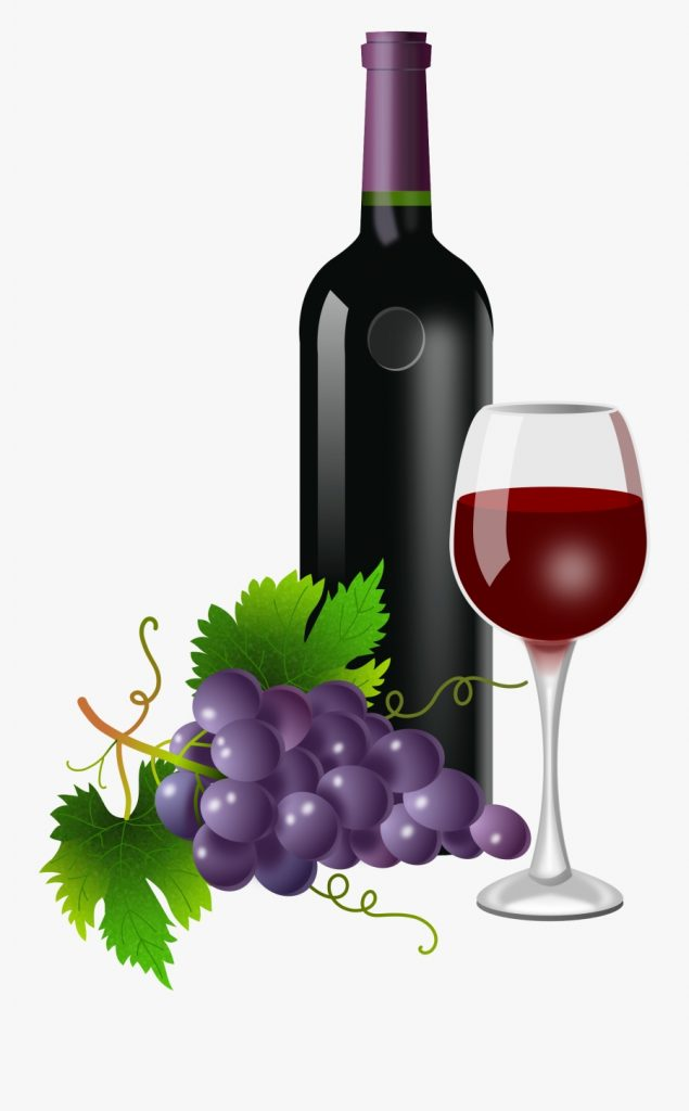 wine clipart bottle wine and grapes png free transparent