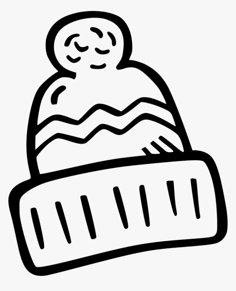 winter hat drawing at mittens clipart black and white hd