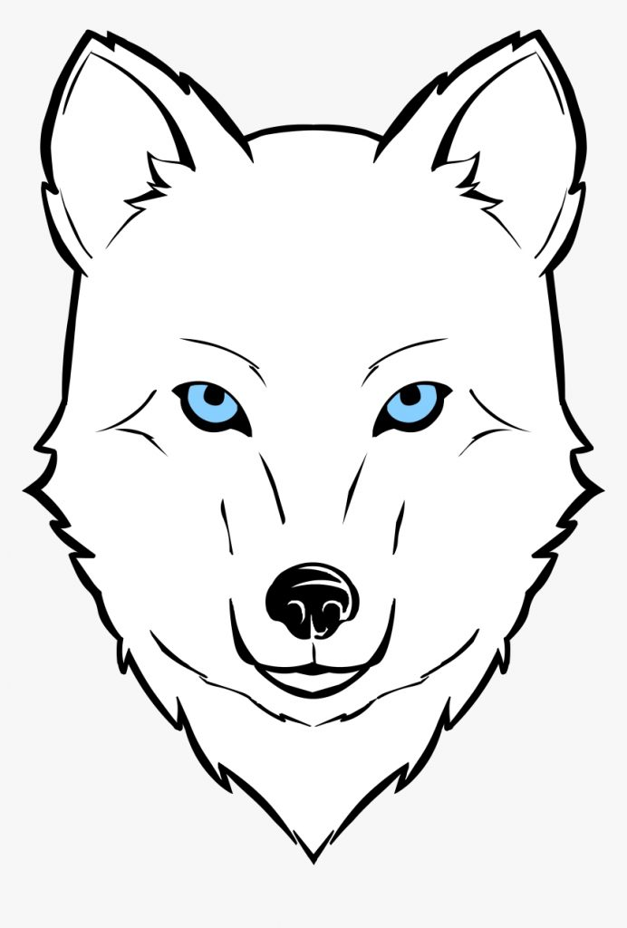 wolf face clipart hd png download kindpng