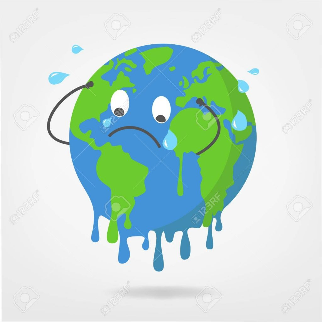 world illustration global warming climate change vector