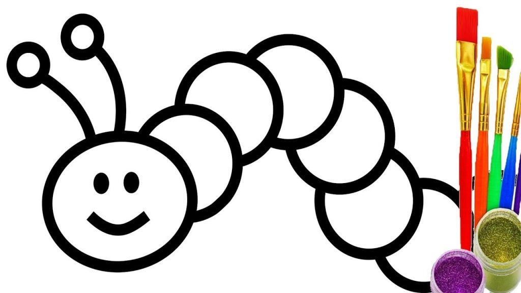worm coloring pages collection of 14 free worms clipart