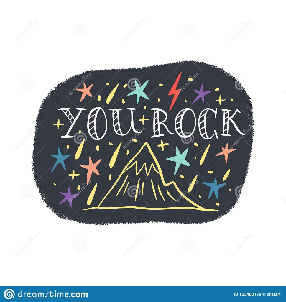 you rock mountains lettering text inspiring travel quote